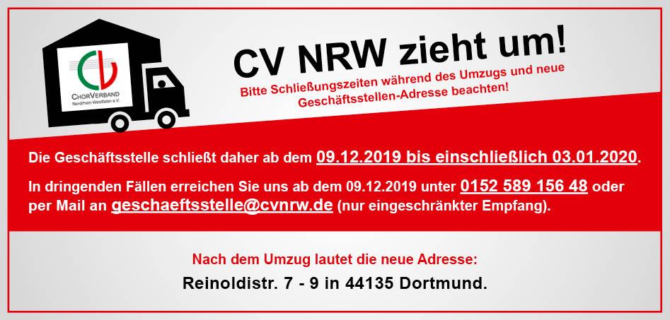 Der CV NRW zieht um!